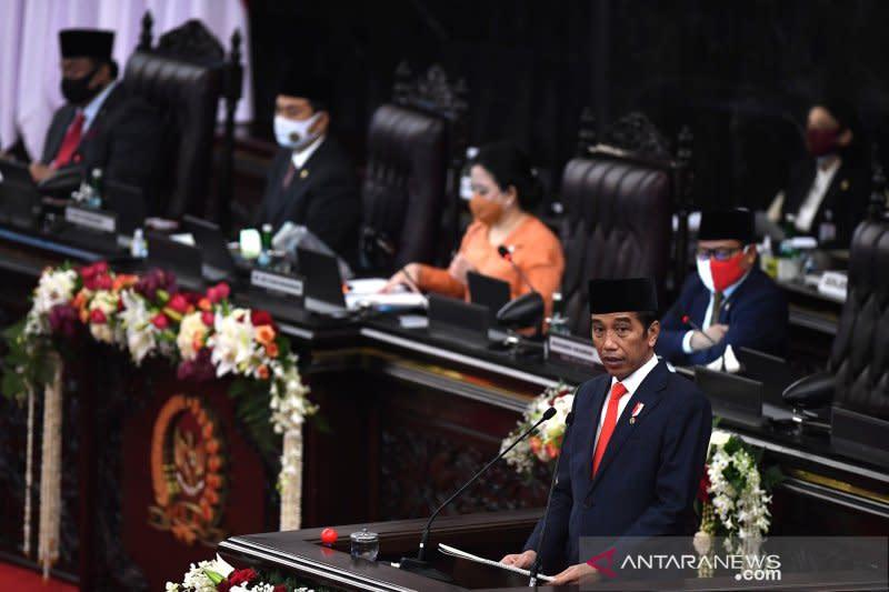 Pidato Presiden atas RUU RAPBN 2021 dan Nota Keuangan