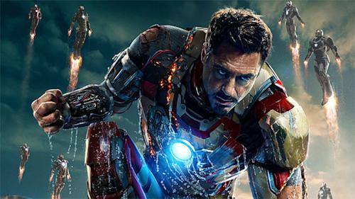 Exclusive 'Iron Man 3′ poster reveals a soaked Stark and suped-up suits