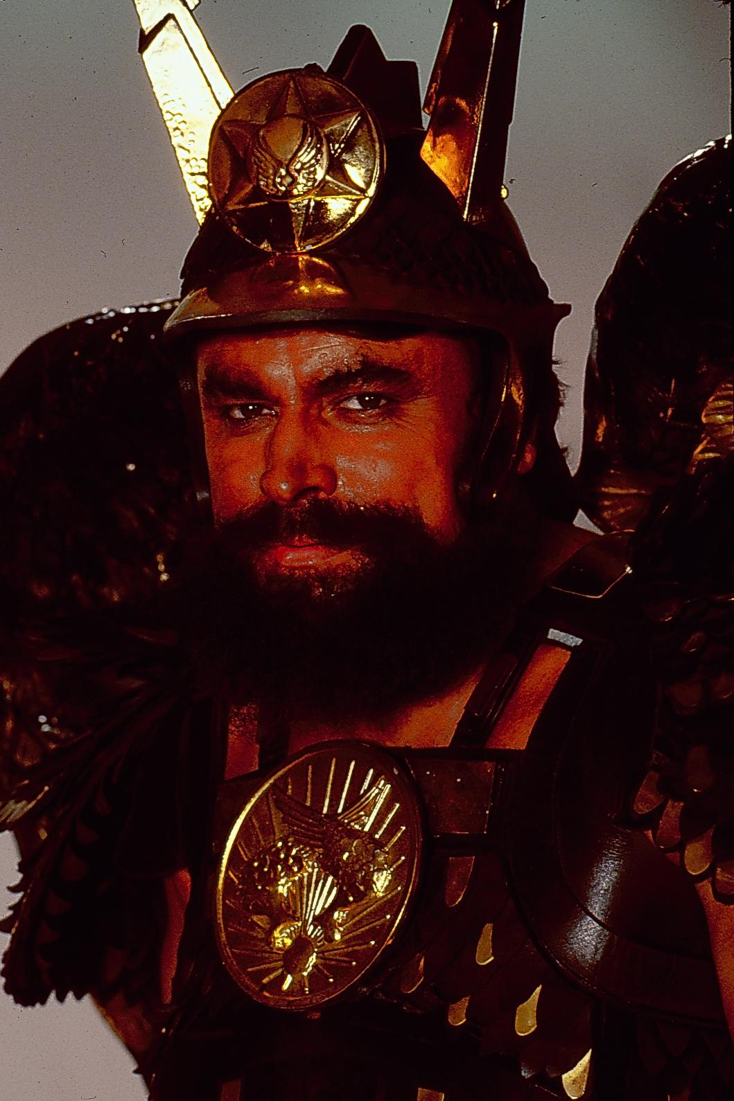 Promotional shot of actor Brian Blessed as he appears in the film 'Flash Gordon', 1980. (Photo by Stanley Bielecki Movie Collection/Getty Images)