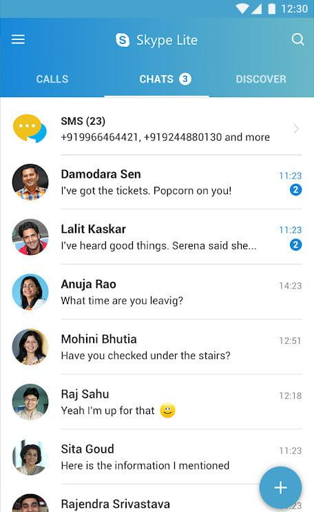 best lite apps skype 3