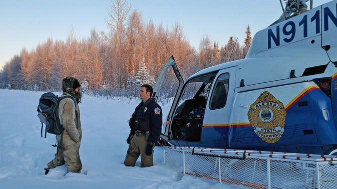 Setelah Steele Berhasil Diselamatkan. (Liputan6/Alaska State Troopers)