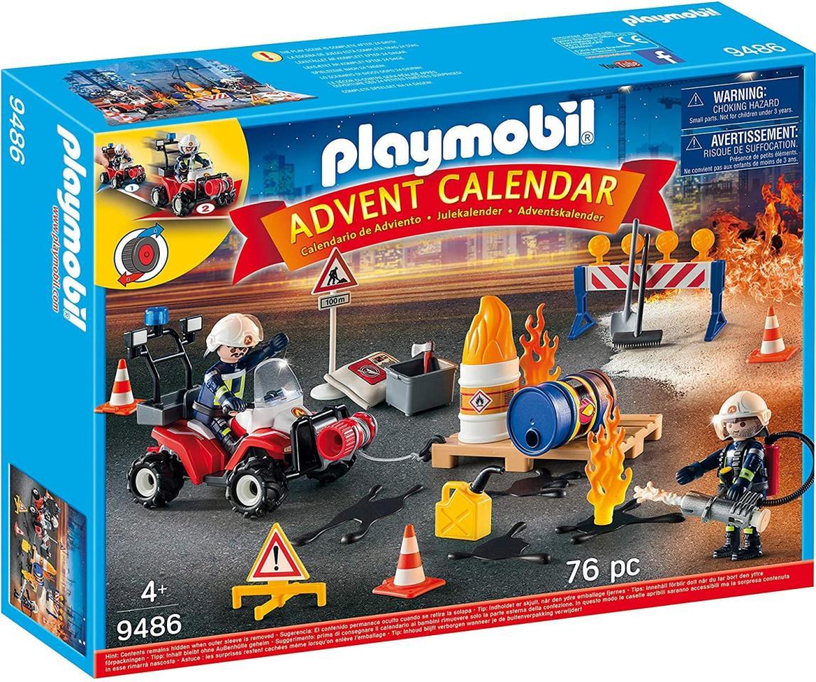 "<p>The <a href=""https://www.popsugar.com/buy/Playmobil-Advent-Calendar-Construction-Site-Fire-Rescue-492118?p_name=Playmobil%20Advent%20Calendar%20Construction%20Site%20Fire%20Rescue&retailer=amazon.com&pid=492118&price=25&evar1=moms%3Aus&evar9=45341361&evar98=https%3A%2F%2Fwww.popsugar.com%2Ffamily%2Fphoto-gallery%2F45341361%2Fimage%2F46636743%2FPlaymobil-Advent-Calendar-Construction-Site-Fire-Rescue&list1=gifts%2Choliday%2Cadvent%20calendars&prop13=mobile&pdata=1"" rel=""nofollow"" data-shoppable-link=""1"" target=""_blank"" class=""ga-track"" data-ga-category=""Related"" data-ga-label=""https://www.amazon.com/PLAYMOBIL%C2%AE-9486-Calendar-Brigade-Construction/dp/B07B3Z7SX6"" data-ga-action=""In-Line Links"">Playmobil Advent Calendar Construction Site Fire Rescue</a> ($25) is brand new.</p>"