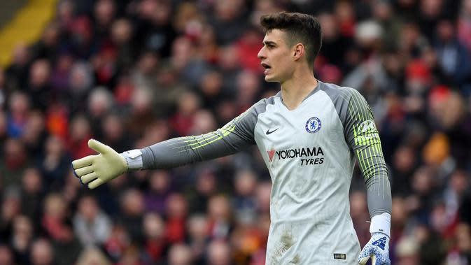 3. Kepa Arrizabalaga (Chelsea FC) - 36 pertandingan, 14 clean sheet (AFP/Paul Ellis)