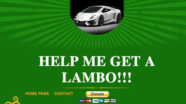 Want a free Lamborghini Gallardo from the Internet? Can't hurt to ask