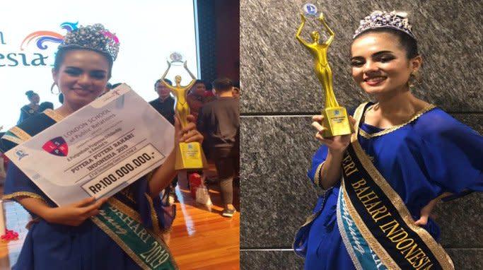Syeha Shafira Alhaddar dinobatkan sebagai pemenang Putri Bahari Indonesia 2019