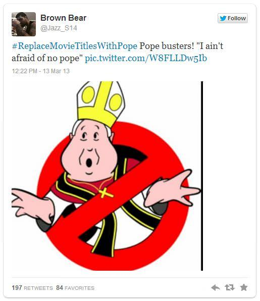 #ReplaceMovieTitlesWithPope Gets Twitter's Blessing