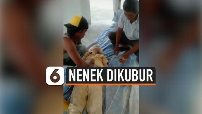 VIDEO: Nenek Dikubur Hidup-Hidup di Kawasan Proyek