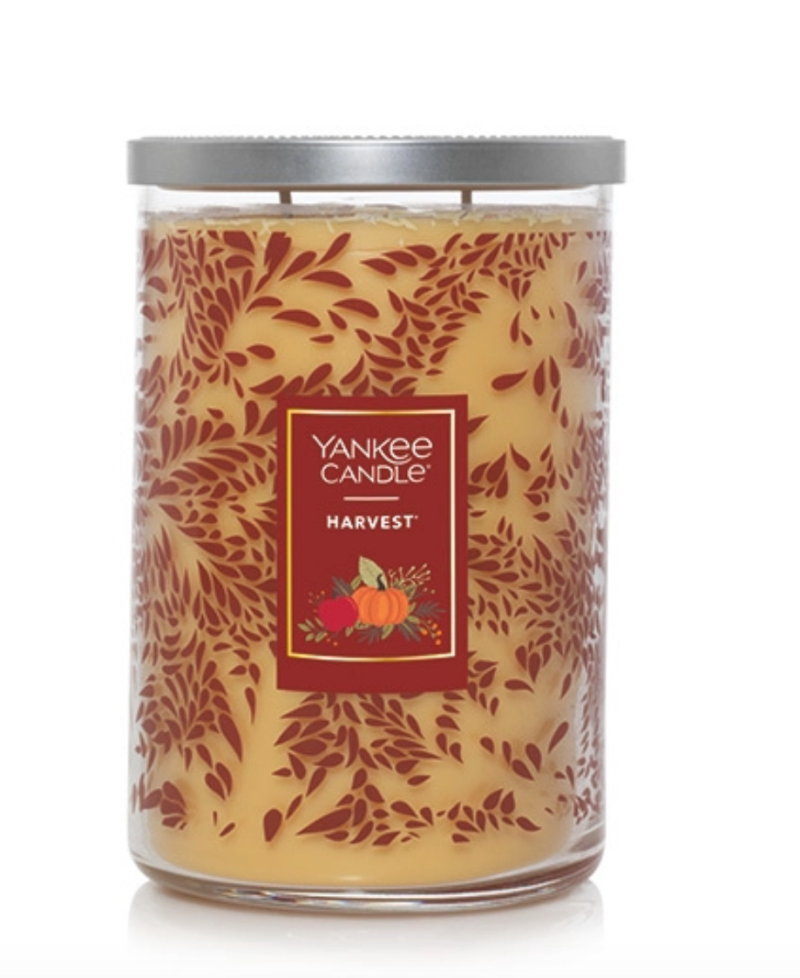Harvest scented candles are on sale now at Yankee Candle.