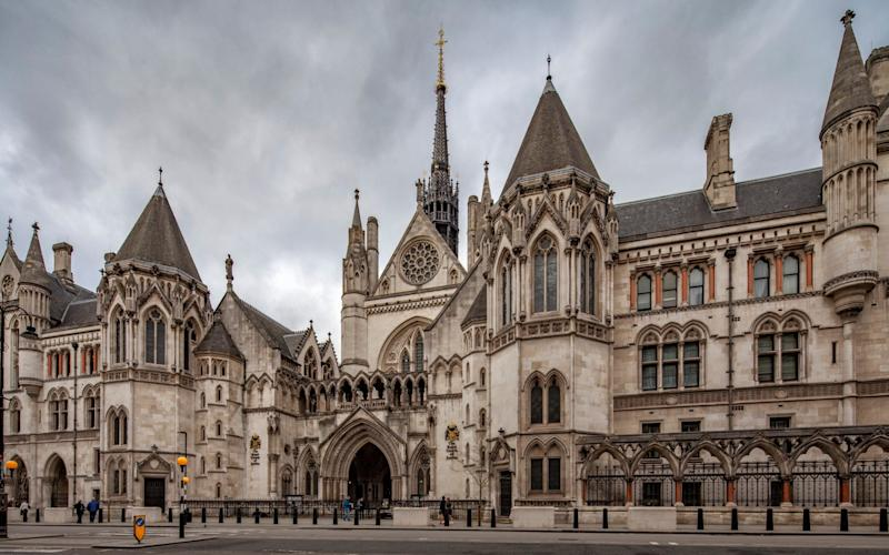 The Royal Courts of Justice, where the case will be heard - Moment RF