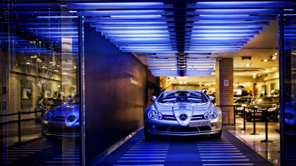A Mercedes SLR gets its own Paris lights: Flickr photo of the day