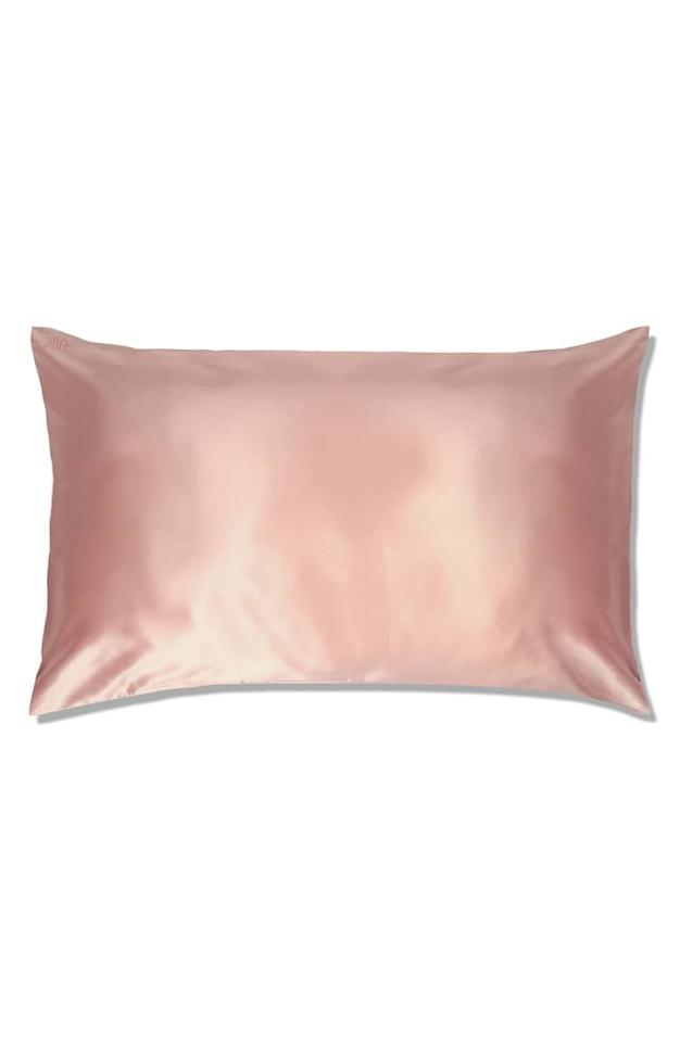 "<p>Her hair and skin will thank you for sleeping on this <a rel=""nofollow"" href=""https://www.popsugar.com/buy/Slip%20For%20Beauty%20Sleep%20Slipsilk%20Pure%20Silk%20Pillowcase-387816?p_name=Slip%20For%20Beauty%20Sleep%20Slipsilk%20Pure%20Silk%20Pillowcase&retailer=shop.nordstrom.com&price=85&evar1=moms%3Aus&evar9=45942110&evar98=https%3A%2F%2Fwww.popsugar.com%2Ffamily%2Fphoto-gallery%2F45942110%2Fimage%2F45942132%2FSlip-Beauty-Sleep-Slipsilk-Pure-Silk-Pillowcase&list1=holiday%2Cwellness%2Cgift%20guide%2Cself%20care%2Chealthy%20living&prop13=api&pdata=1"" rel=""nofollow"">Slip For Beauty Sleep Slipsilk Pure Silk Pillowcase</a> ($85-$105). Plus, it just feels so luxurious.</p>"
