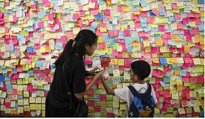 Lennon Walls sprang up across the city during last year's anti-government protests. Photo: Sam Tsang