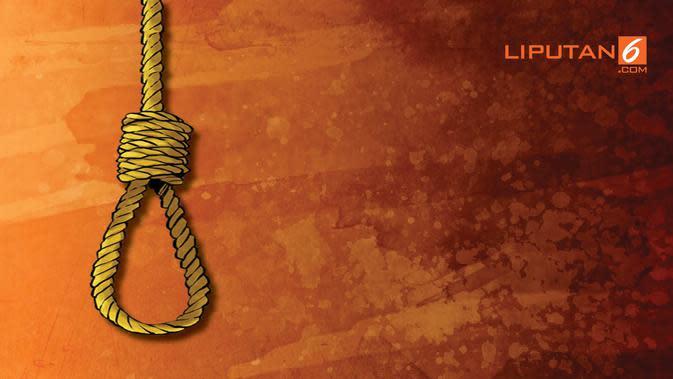 banner grafis ilustrasi bunuh diri