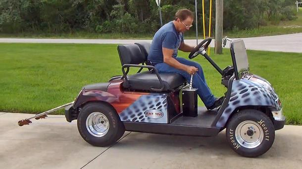 Hayabusa-powered golf cart hits 100 mph, for America's sake