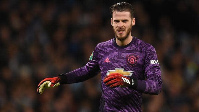 Kiper Manchester United David De Gea. (AFP/Oli Scarff)