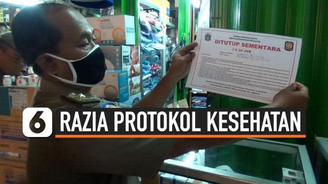 VIDEO: Melanggar Protokol Kesehatan Kios dan Warung di Pasar Pramuka Ditutup