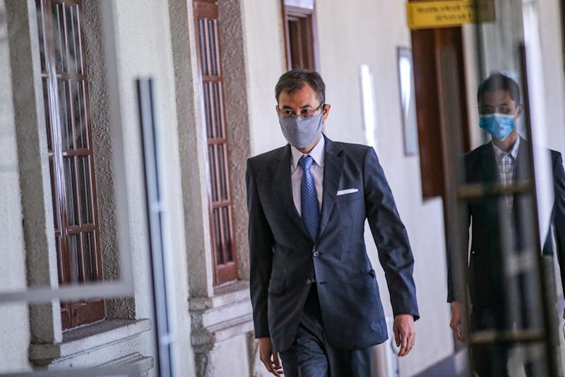 Datuk Shahrol Azral Ibrahim Halmi is pictured at the Kuala Lumpur Court Complex June 30, 2020. — Picture by Hari Anggara