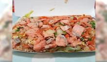 阿嬤開的?塞到餐盒都變形 鮭魚炒飯只要80元