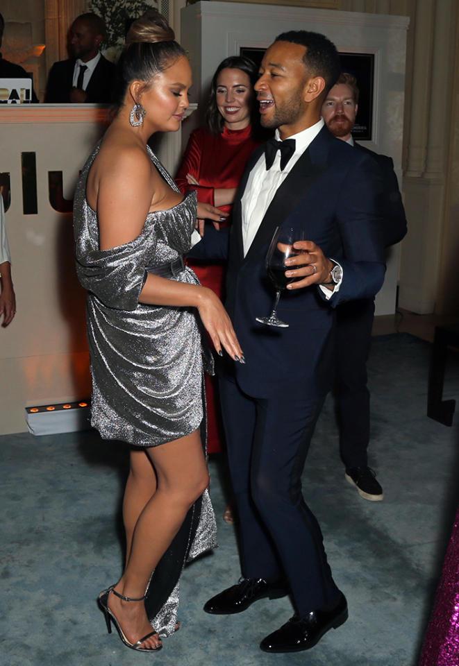 <p>Newly minted EGOT winner John Legend hit the dance floor with America's favorite tweeter, Chrissy Teigen. Photo: David Buchan/Variety/REX/Shutterstock </p>