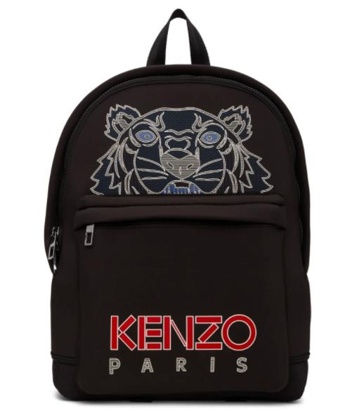 Kenzo black neoprene large tiger backpack, 43% off. US$162 (was US$283.55). PHOTO: Ssense