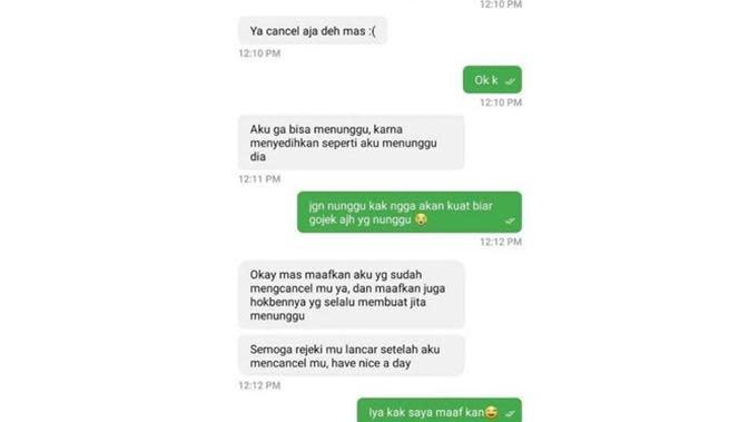 Chat Iseng 5 Driver Ojol saat Terima Orderan Ini Bikin Geregetan (sumber: Instagram.com/dramaojol.id)