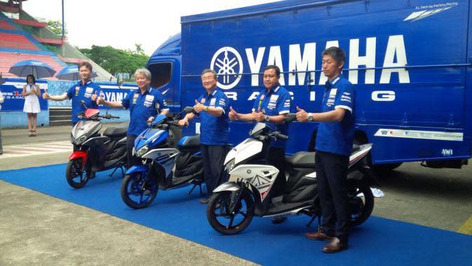 PT Yamaha Indonesia Motor Manufacturing (YIMM) meluncurkan Yamaha Aerox 125 di Sirkuit Internasional Sentul.