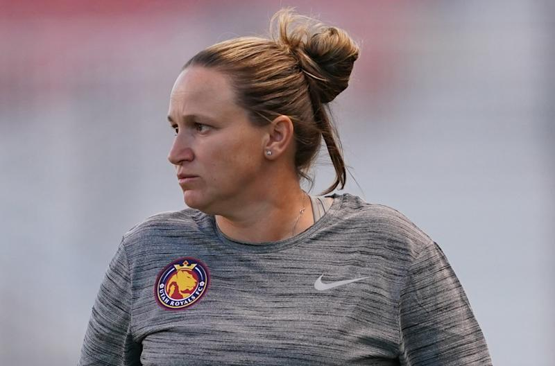 Utah Royals coach Laura Harvey has had success in the NWSL, but would that translate to the international game? (Getty)