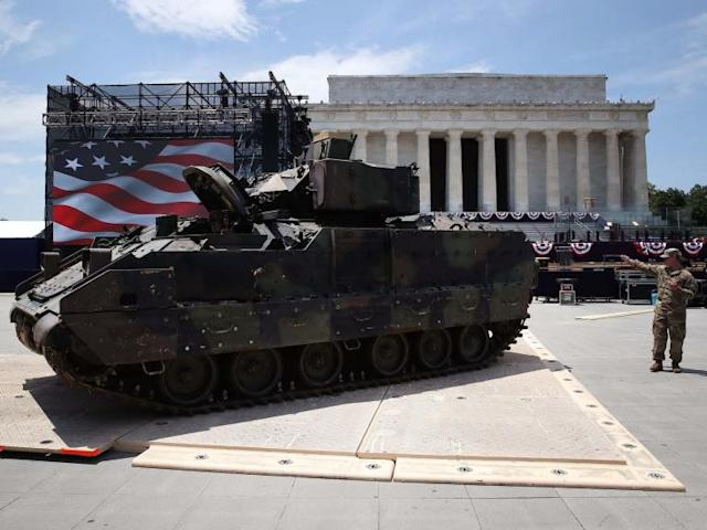 Salute to America: Trump dismisses officials' concerns his tanks will damage Lincoln Memorial during Fourth of July parade