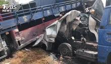 國道5車連環撞!小客車遭「貨車壓扁」1死 回堵4km