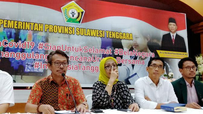 Kepala Satuan Gugus Tugas penanganan Corona Covid-19 Sulawesi Tenggara, La Ode Rabiul Awal. (Liputan6.com/Ahmad Akbar Fua)