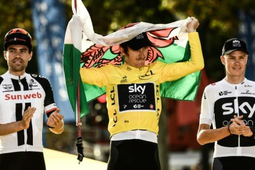 Geraint Thomas says life has been insane and bonkers since he stood on the podium after winning the Tour de France but it threatens to get crazier for the 32-year-old Welshman