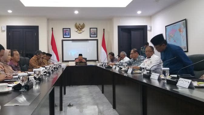 Wapres Pimpin Rapat Penanggulangan Terorisme dan Radikalisme