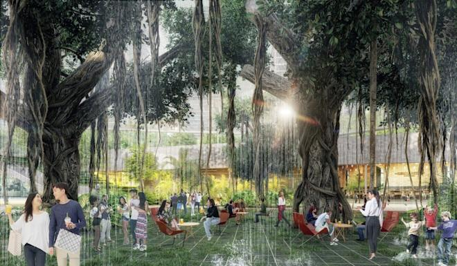 An artist's impression of the campus-style open space. Photo: Handout