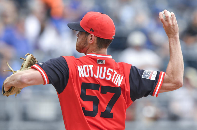 Cleveland Indians starting pitcher Shane Bieber can't escape the Justin Bieber references. (Getty Images)