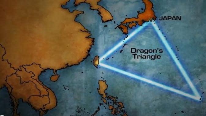 Ilustrasi peta perairan Segitiga Naga disebut memiliki misteri serupa Segitiga Bermuda - AP