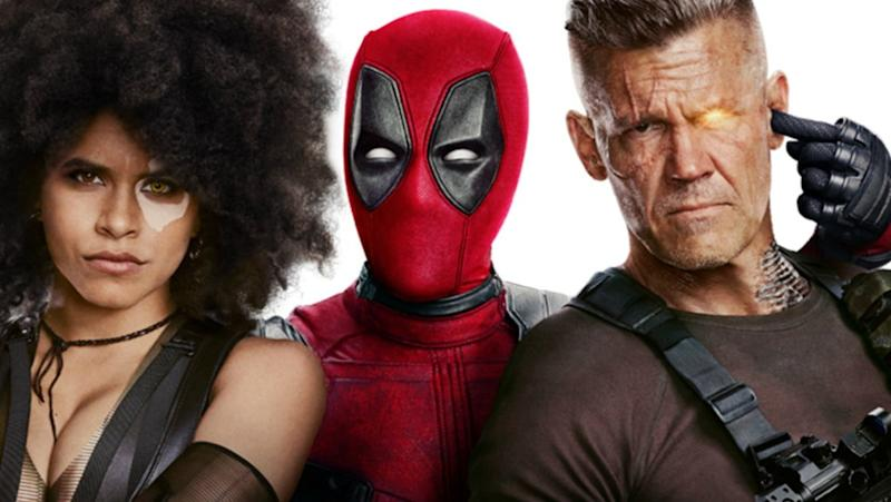 Domino, Deadpool, and Cable in promotional art for Deadpool 2