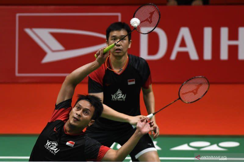 Indonesia tambah keunggulan 2-1 melalui kemenangan Hendra/Ahsan