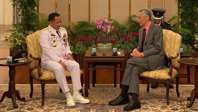 PM Singapura Lee Hsien Loong Minta Dukungan Mendagri Tingkatkan Kerja Sama RI