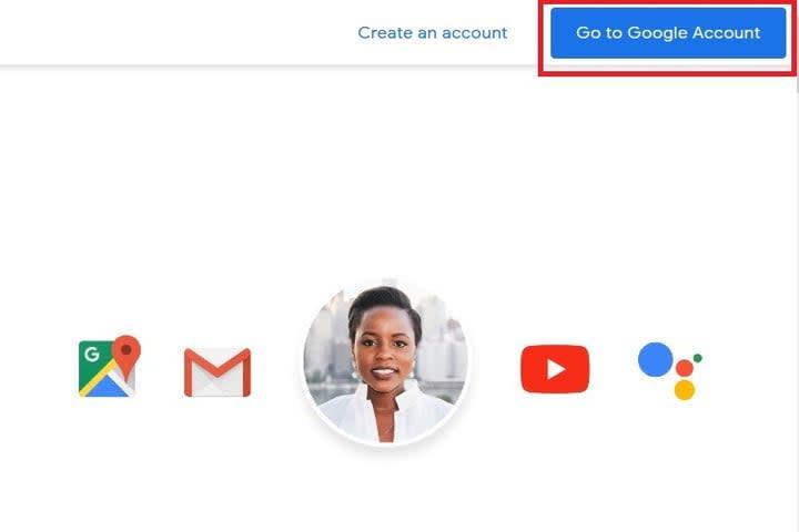Change Gmail password step 1 screenshot