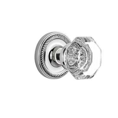 Nostalgic Warehouse Rope Rosette 2 3 8 In Backset Bright Chrome Privacy Bed Bath Waldorf Door Knob Yahoo Shopping