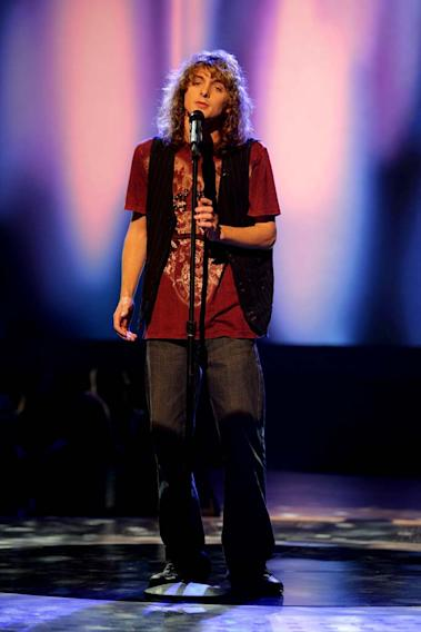 Garrett Haley performs as one of the top 24 contestants on the 7th season of American Idol.