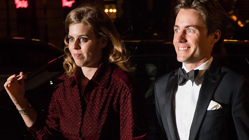 Princess Beatrice and Edoardo Mapelli Mozzi were all smiles on their first public outing earlier in 2019. Photo: Getty Images