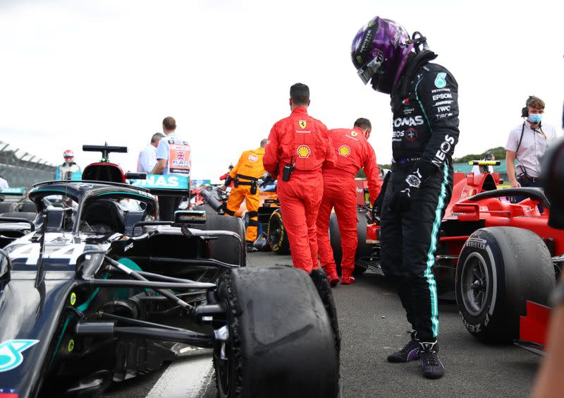 Motor racing: British GP tyre problems due to wear on long final stint