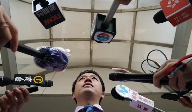 Democratic Party member Ted Hui. Photo: Felix Wong