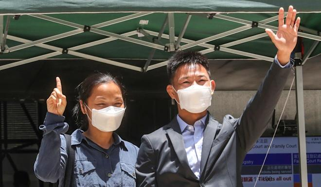 Elaine To and her husband Tong Wai-hung were also cleared. Photo: Edmond So