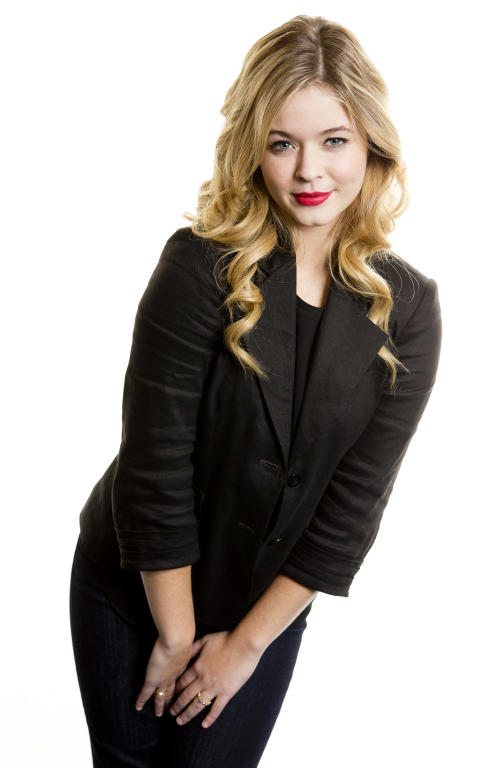 "This Dec. 9, 2013 photo shows actress Sasha Pieterse from the ABC Family television series ""Pretty Little Liars,"" in New York. (Photo by Brian Ach/Invision/AP)"