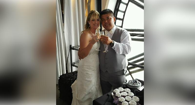 Kimberley (left) and Darren Mizokami (right) drowned at a Costa Rica waterfall