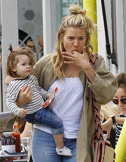Sienna Miller Steps Out With Her Daughter
