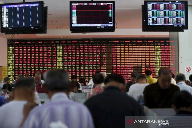 Bursa saham China ditutup anjlok, akhiri kenaikan 4 hari beruntun
