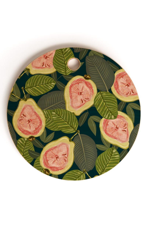 DENNY DESIGNS 83 Oranges Guava Cutting Board